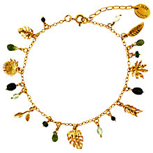Buy Alex Monroe Tropical Leaf Charm Bracelet, Gold Online at johnlewis.com