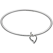 Buy Kit Heath Lust Heart Bangle, Silver Online at johnlewis.com