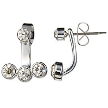 Buy John Lewis Triple Drop Ear Jackets, Silver Online at johnlewis.com