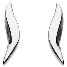 Buy Kit Heath Beval Wave Stud Earrings, Silver Online at johnlewis.com
