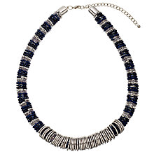 Buy John Lewis Bead and Rings Statement Necklace, Navy/Silver Online at johnlewis.com