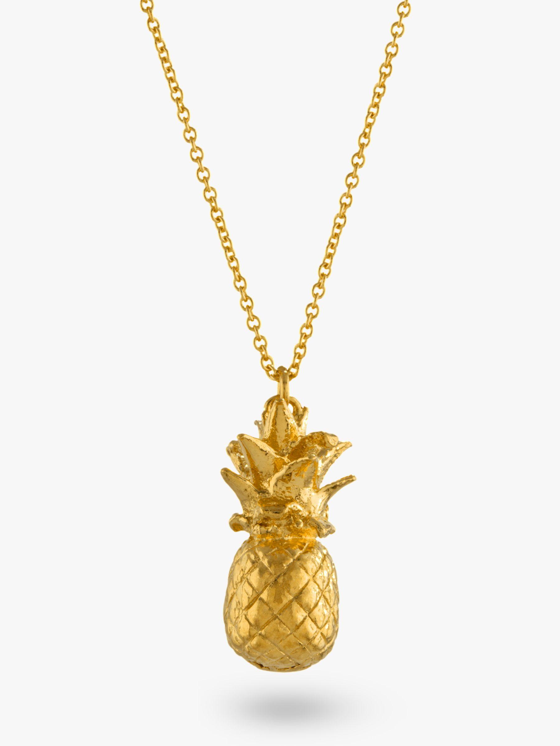 Alex Monroe Alex Monroe Long Pineapple Pendant Necklace, Gold