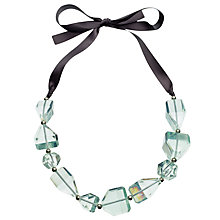 Buy One Button Asymmetric Beads Ribbon Necklace Online at johnlewis.com