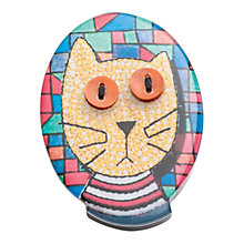 Buy One Button Resin Marmalade Cat Brooch, Multi Online at johnlewis.com