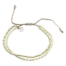Buy One Button Bead Friendship Bracelet, Pale Lime Online at johnlewis.com