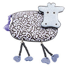 Buy One Button Resin Dangle Legs Cow Brooch, Lilac Online at johnlewis.com