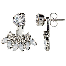 Buy John Lewis Petal Shape Diamante Ear Jackets, Silver Online at johnlewis.com