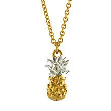 Buy Alex Monroe Mini Pineapple Pendant Necklace, Gold/Silver Online at johnlewis.com