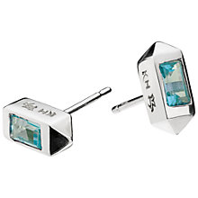 Buy Kit Heath Mini Lizzie Topaz Stud Earrings, Silver/Sky Blue Online at johnlewis.com