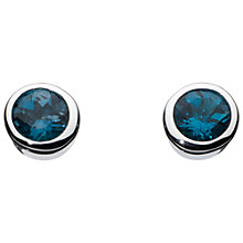 Buy Kit Heath Simmer London Topaz Stud Earrings, Silver/Blue Online at johnlewis.com