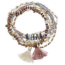 Buy John Lewis Bead and Tassel Stretch Bracelet, Multi Online at johnlewis.com