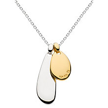 Buy Kit Heath Pebble Pendant Necklace, Silver/Gold Online at johnlewis.com