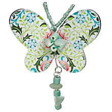 Buy One Button Resin and Bead Butterfly Brooch, Green/Multi Online at johnlewis.com