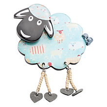 Buy One Button Dangle Legs Resin Sheep Brooch, Teal Online at johnlewis.com