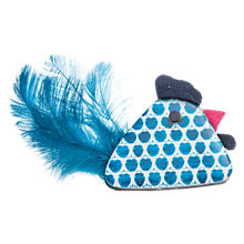 Buy One Button Resin Spotty Feather Chicken Brooch, True Blue Online at johnlewis.com