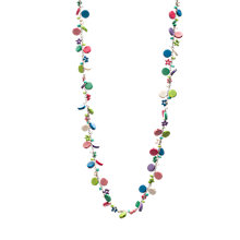 Buy One Button Short Mini Discs and Bead Necklace, Multi Online at johnlewis.com
