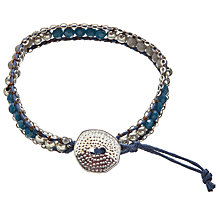 Buy One Button Woven Glass Bead Friendship Bracelet Online at johnlewis.com