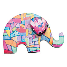 Buy One Button Resin Elephant Brooch, Pink/Multi Online at johnlewis.com