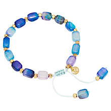 Buy Lola Rose Starla Bracelet, Aqua Purple Agate Online at johnlewis.com