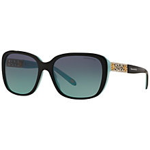 Buy Tiffany & Co TF4120B Embellished Square Sunglasses Online at johnlewis.com