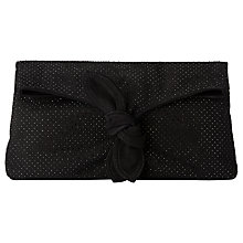 Buy L.K. Bennett Elen Crystal Clutch Bag, Black Suede Online at johnlewis.com