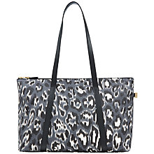 Buy Jaeger Julianne Leopard Print Tote, Blue Leopard Online at johnlewis.com