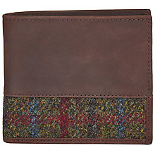 Buy John Lewis Harris Tweed Wallet, Green Online at johnlewis.com