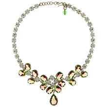 Buy Eclectica Vintage 1950s Chrome Plated Watermelon Tourmaline Necklace, Pink/Green Online at johnlewis.com