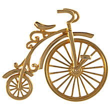 Buy Eclectica 1970's Gold Plated Penny Farthing Brooch, Gold Online at johnlewis.com