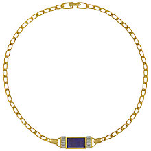 Buy Eclectica Vintage 1980s Gold Plated Faux Lapis Swarovski Crystal Necklace Online at johnlewis.com