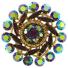 Buy Eclectica Vintage 1950s Judy Lee Gold Plated Rhinestone Brooch, Purple Online at johnlewis.com