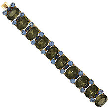 Buy Eclectica Vintage 1950s Gold Plated Glass Stone Bracelet, Charcoal/Blue Online at johnlewis.com