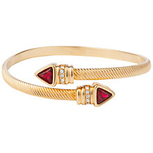 Buy Susan Caplan Vintage 1980's Gold Plated Swarovski Crystal Bangle, Gold/Red Online at johnlewis.com
