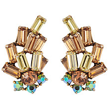 Buy Susan Caplan Vintage 1950's Regency Gold Plated Swarovski Crystal Earrings, Gold Online at johnlewis.com