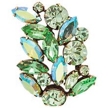 Buy Susan Caplan Vintage 1950's Regency Gold Plated Swarovski Crystal Leaf Brooch, Aurora Borealis Online at johnlewis.com