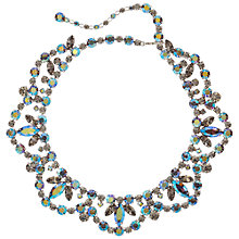 Buy Susan Caplan Vintage 1960's Sherman Silver Plated Swarovski Crystal Necklace, Aurora Borealis Online at johnlewis.com
