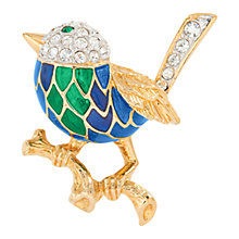 Buy Susan Caplan Vintage 1970's Attwood and Sawyer Gold Plated Swarovski Crystal Bird Brooch, Gold/Blue Online at johnlewis.com