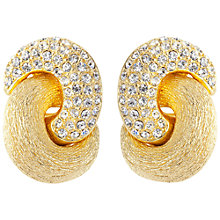 Buy Susan Caplan Vintage 1980's Dior Gold Plated Swarovski Crystal Love Knot Clip On Earrings, Gold Online at johnlewis.com