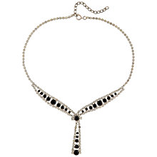 Buy Susan Caplan Vintage 1960's Austrian Crystal Drop Necklace, Silver/Black Online at johnlewis.com