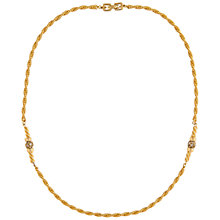 Buy Susan Caplan Vintage 1970's Givenchy Gold Plated Swarovski Crystal Rope Necklace, Gold/Crystal Online at johnlewis.com