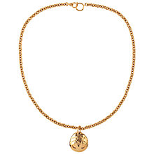 Buy Susan Caplan Vintage 1990's Chanel Oval Pendant, Gold Online at johnlewis.com