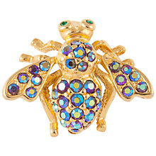 Buy Susan Caplan Vintage 1990's Joan Rivers Gold Plated Swarovski Crystal Bug Brooch, Aurora Borealis Online at johnlewis.com