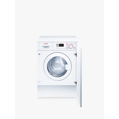 Bosch WKD28351GB Integrated Washer Dryer 7kg Wash4kg Dry Load B Energy Rating 1400rpm Spin White