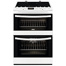 Buy Zanussi ZCV68310WA Avanti Electric Cooker, White Online at johnlewis.com