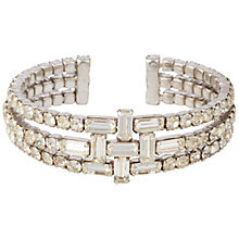 Buy Susan Caplan Vintage 1960's Chrome Plated Swarovski Crystal Bangle, Crystal/Silver Online at johnlewis.com