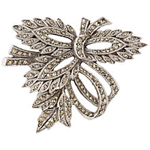 Buy Susan Caplan Vintage 1940s Silver Plated Marcasite Bow Brooch, Silver Online at johnlewis.com