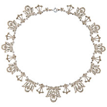 Buy Susan Caplan Vintage 1940s Givenchy Silver Plated Marcasite Statement Necklace Online at johnlewis.com