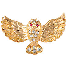 Buy Susan Caplan Vintage 1960s Attwood & Sawyer Gold Plated Austrian Crystal Owl Brooch, Gold Online at johnlewis.com
