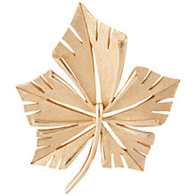 Buy Susan Caplan Vintage 1960s Trifari Gold Plated Geometric Leaf Brooch, Gold Online at johnlewis.com