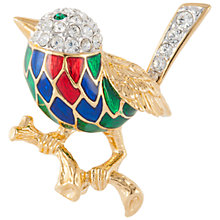 Buy Susan Caplan Vintage 1970s Attwood & Sawyer Gold Plated Swarovski Crystal and Enamel Bird Brooch, Gold/Multi Online at johnlewis.com